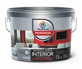 Краска Профилюкс Professional INTERIOR ВЛАЖНАЯ УБОРКА латексная для стен и потолков 13кг