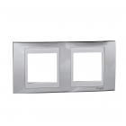 Рамка декоративная двухместная серебро/бел Unica Хамелеон Schneider Electric