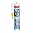 Клей-герметик SOUDAL Fix All Crystal эластичный гибридный бесцветный 290 мл (12)