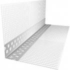Угол ПВХ с армирующей сеткой фасадный 10х15х2500 мм