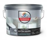 Краска Профилюкс Professional EXTRA WHITE СУХАЯ УБОРКА акриловая для стен и потолков 13кг