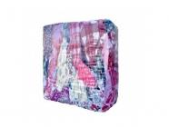 Ветошь обтирочная Фланель, высокая гигроскопичность, фланелевые ткани разных цветов, ХБ - 100% (брикет 10кг)