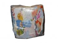 Ветошь обтирочная Махра, высокая гигроскопичность, махровые ткани разных цветов, ХБ - 100% (брикет 10кг)